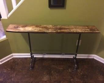 Barnwood Black Pipe Entryway Table, Rustic Barnwood Table, Entryway Table,  Industrial Pipe Table