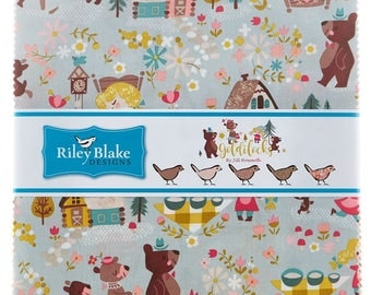 "Goldilocks 10"" Stacker (layer cake) by Jill Howarth for Riley Blake (42 10"" squares) 10-5710-42 nursey rhymes cotton quilting fabric precut"
