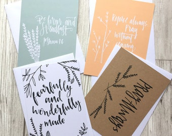 Christian Encouragement Postcards - Faith Postcards - Notecards - Christian Gifts - Faith Gifts - Eco friendly