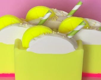 Sparkling Limoncello Handmade Cold Process Soap with Coconut Milk & Shea Butter