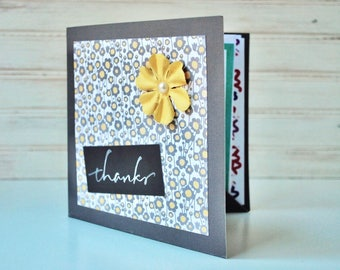 Women's THANK YOU 4 Card Gift Set - Handmade Cards - Gift for Her/Gift for Mom/Gift for Coworker/Gift for Friend/Thank You Gift
