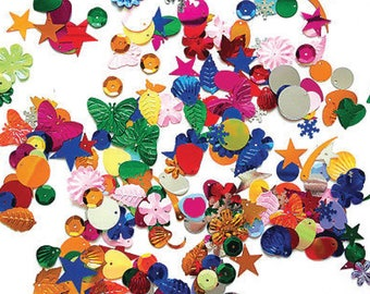 Sequin glitter 100g Assorted Shapes and Colors sequins paillettes Crafts