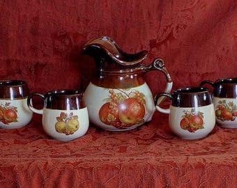 Antique Ceramic Pitcher Set
