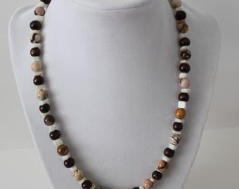 Brown Zebra Stone Necklace