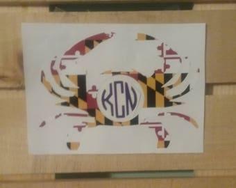 MD Vinyl Monogram Decal