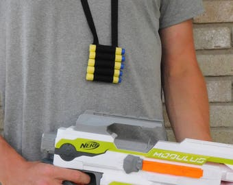 Nerf Gun Wars Birthday Party Favors Prizes Present Goody Bag Thank you  Gifts Lanyard Holster Bullet