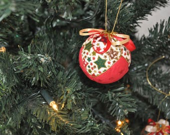 Hand made Christmas baubles (decorations)