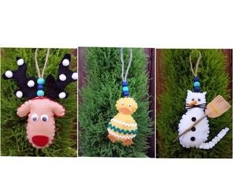 hanging Christmas decoration (set of 3)