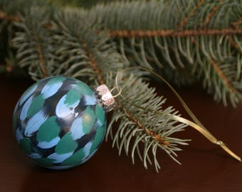 Light Forest Green and Blue Ornament