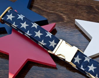 Patriotic Stars Dog Collar