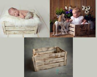 Newborn Crate, Newborn Photo Prop, Wooden Prop, Sitter Prop, Photography Prop, UK Seller!