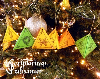DIY Wiccan Yule ornaments, printable Yule decoration, downloadable Yule decor, pagan decor, Wicca ornaments, pagan art, Wiccan decor