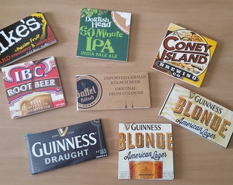 Beer (and Soda) Tile Coasters