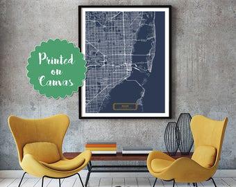 MIAMI Florida City Map Miami Florida Art Print Miami Florida poster Miami Florida map art United States of America Poster Jack Travel