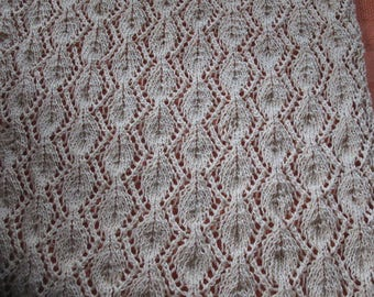TABLE runner ecru knitted lace 105/33 cm