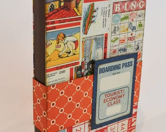 Travel themed mini folio scrapbook