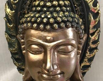 Buddha Head with Flame