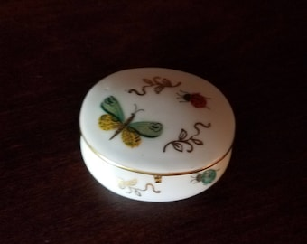 Oval Ceramic Trinket Box