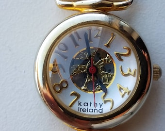 Ladies Kathy Ireland Watch with Brown Leather Band
