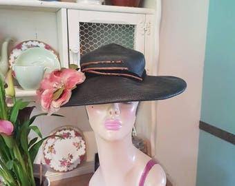 1940s hat with stunning  flower embellishment
