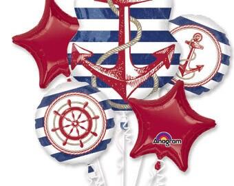 5Pc Bouquet Nautical Balloon bouquet