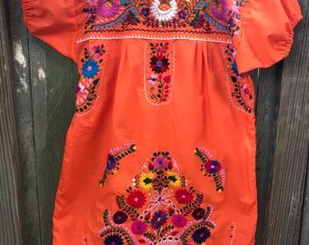 Mexican Dress, Puebla Mini Dress