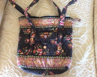 Vintage Tote, Vera Bradley, Cotton Quilted, Mint Condition