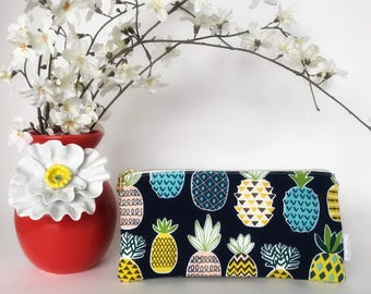 Pineapple Zipper Pouch   Clutch   Pencil Pouch   Make-up Bag