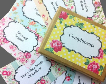 Compliment Cards , Affirmation Cards, Encouragement Cards, Positivity Cards,Gift Cards,Friendship Cards, Inspirational Cards, Thank You Gift