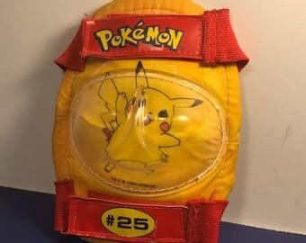 NINTENDO POKEMON PIKACHU #25 elbow knee pad red yellow vintage japan toy collectible tm original 1990s