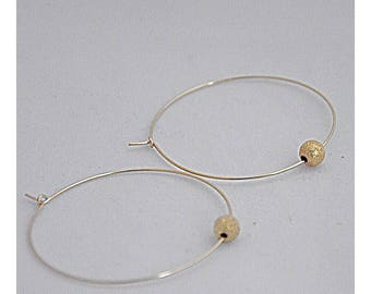 Creoles 14k goldplated Large