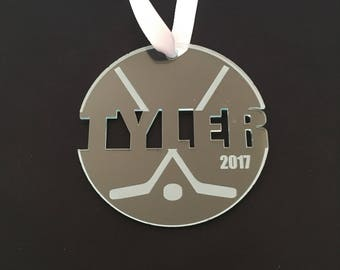Hockey Ornaments - Engraved Ornament Personalized Custom Christmas Ornament - Hockey Gifts For Boys - Hockey Mom - Hockey Christmas Gift