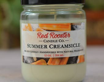 Summer Creamsicle 100% Soy Candle