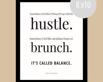 Brunch Balance. || WALL PRINT (8 x 10)
