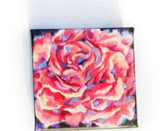 Original Mini Rose Oil Painting