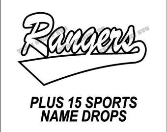 Rangers Swoosh Download Files - SVG, DXF, EPS, Silhouette Studio, Vinyl Cutting Files, Digital Cut Files - Use with Cricut and Silhouette