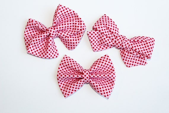 Pink & Red Heart Bow