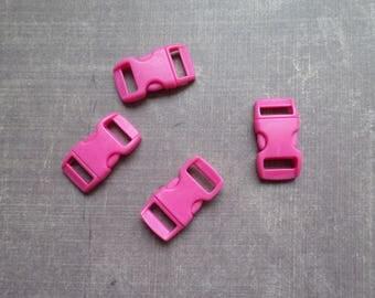 Lot 8 clips clasp bag hot pink Paracord Bracelet