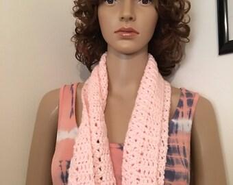 Handmade Soft Acrylic Cowl Pink Scarf