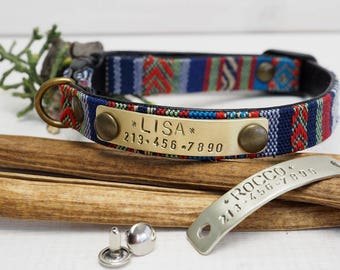 Cat collar, Personalized Cat collar, Small Dog Collar, ID tag, indoor cat , Cat Collar Personalized, Breakaway Safety Buckle, Outdoor cat