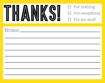 All Occasion Thank You Notes
