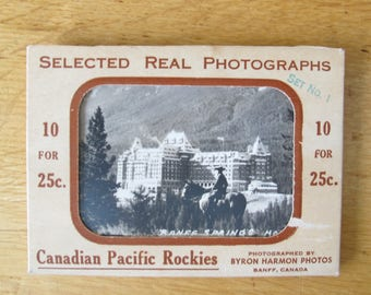 Canadian Pacific Rockies Selected Real Photographs - Set No. 1 (set of 10) / Byron Harmon Photos / Mini Photos