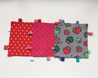 Blankies with asterisks or dots, owls