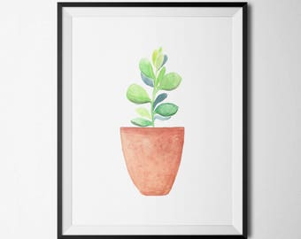 Succulent Plant Printable Cactus Nursery Wall Art Succulent Arrangement Succulent Plants Cactus Plant Prints Succulent Nursery Decor