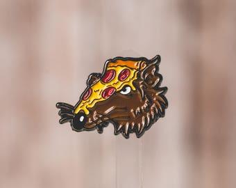 Master Splinter / Pizza Rat Enamel Pin