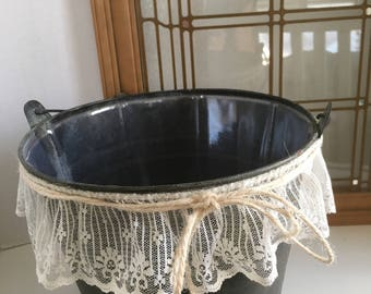 Vintage Metal Bucket/Planter