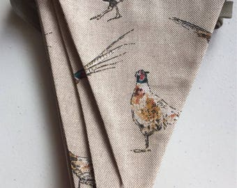 Pheasant Fabric Bunting