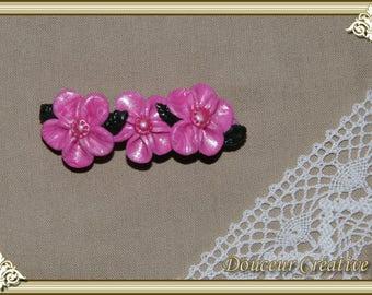 Pink flower Barrette 203001