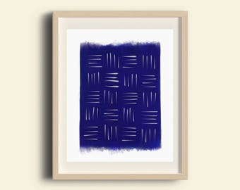Shibori Art, Hand Illustrated Art, Geometric Print, Minimalist Poster, Wall Decor, Modern Home Decor