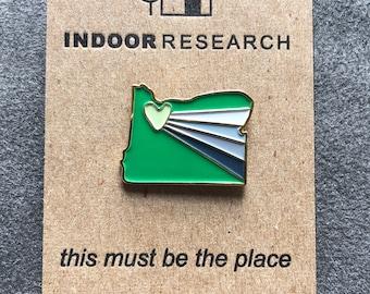 Portland Graynbow Enamel Pin